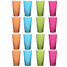 16 Plastic Drinking Tumbler Set Glasses Water Soda Pop Ice Tea Juice Cup 20 Oz