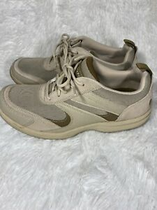 Rockport K73926 Trail Sport Lace Up Beige Shoes Size 7.5 7 1/2 Wide