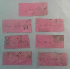 RARE Adele PINK CONFETTI Only 1 Show Had It!  7 BEAT UP PIECES! Only one on Ebay