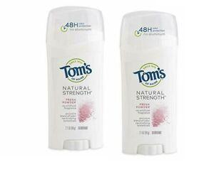 2 x Tom's of Maine Natural Strength Deodorant, Fresh coconut , 2.1oz  2 pack