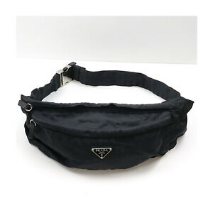 Prada Waist Pouch Bag  Black Nylon 2201720