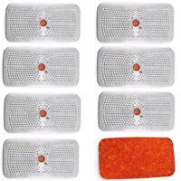 8x 40 Gram Silica Gel Desiccant Moisture Absorber Dehumidifier Orange to Green