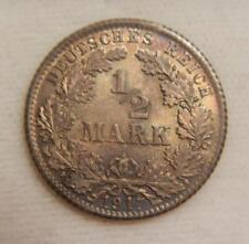 Germany 1917D/D 1/2 Mark KM17 BU (toned)