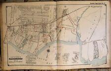 1915 BELLPORT BROOKHAVEN TANGIER SUFFOLK COUNTY LONG ISLAND NEW YORK ATLAS MAP