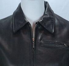 Women's GAP Black 100% Genuine Leather Zip-Up Coat/Jacket Sz XS NICE!