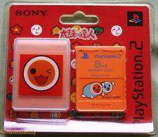 PS2 Taiko no Tatsujin 8MB Tarjeta de memoria (2004) totalmente nuevo y sellado de fábrica Sony