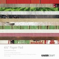 "Kaisercraft 'BASECOAT CHRISTMAS' 6.5"" Paper Pad Xmas/Holly/ KAISER"