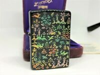 ZIPPO 1996 Limited Edition Japanese Black Lacquer Makie Design Lighter w Case