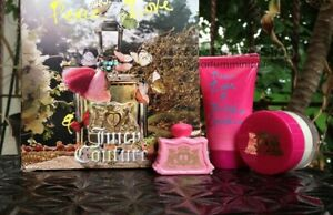 Peace Love Juicy Couture  3 PC Set  .17 oz Mini & .5 oz Body Cream & Shower Gel