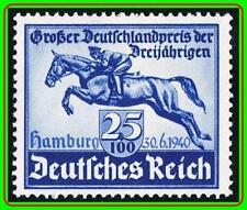 GERMANY 1940 HAMBURG BLUE RIBBON SC#B172 MNH postfrisch CV$21.00 HORSES, SPORTS