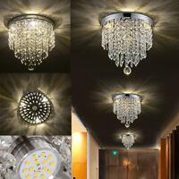 LED Round Modern Pendant Crystal Ceiling Lamp Chandelier Light Lighting