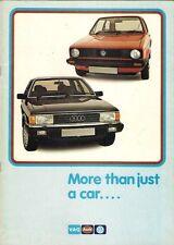 VAG VOLKSWAGEN AUDI Accessori & post-vendita 1981-82 Regno Unito delle vendite sul mercato opuscolo