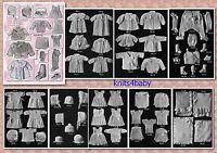 100+ RARE VINTAGE 1920's BABY KNITTING & CROCHET PATTERNS