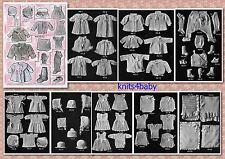 150+ VINTAGE 1920's BABY KNITTING & CROCHET PATTERNS