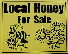 "Beekeeping sign ""Local Honey for Sale"" (whimsical bee)"