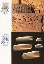 Aland Finland 1994 Maxi Card nr 12 -13 - Stone Age Tools and Ceramics