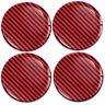 4x 65mm 3D Silikon Carbon Rot Aufkleber für Nabendeckel Felgendeckel Nabenkappen