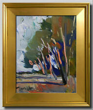 JOSE TRUJILLO FRAMED Original Oil Painting IMPRESSIONIST ABSTRACT DECOR CANVAS