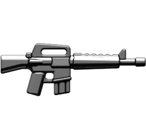 BrickArms M16 Rifle for Minifigures Soldiers Military -NEW- Gunmetal
