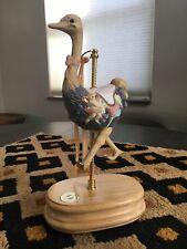 Breckenridge Designs Musical Golden Carousel Ostrich Music Box Toy Land