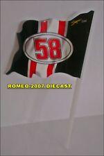 1:12 Bandera Flag Valentino Rossi Tributo Marco Simoncelli 58 to minichamps NEW!