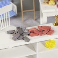 Doll house Miniature 1:12 scale mini simulation retro small brick red brick E6Q5