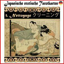 japanische erotische tarotkarten orakel karten buch spielkarten tarotdeck tarot