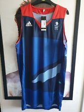 "ADIDAS TEAM GB 2012 BASKETBALL JERSEY SHIRT - SIZE M (M2) 40""- 42"" chest."