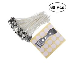 60 PCS CANDLE CozYours WICKS WITH STICKERS FOR CANDLE MAKING, LOW SMOKE 8-Inch