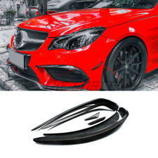 6pcs Carbon Fiber Air Knife For Mercedes Benz E-Class W207 Coupe 2014-2016