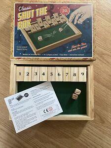 Retro Bazaar Classic Shut The Box Wooden Dice Game New Boxed