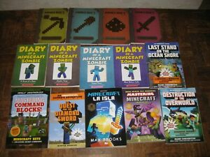 Minecraft 14 Book set series lot ZOMBIE DIARY hacks guide tips mine craft