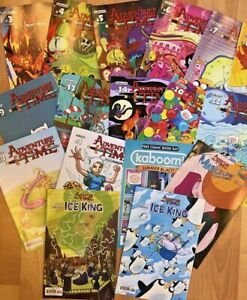 KABOOM ADVENTURE TIME LOT 17 COMICS - ICE KING, MARCELINE, 2013 ANNUAL, MORE!