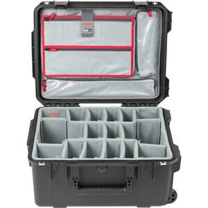 SKB iSeries 3i-2015-10 Case with Photo Dividers  Lid Organizer, Black/Gray