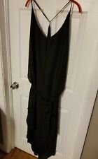 NEW City Chic XXL 2XL Maxi Strappy Dress Bathing Suit Cover Plus Flowy Black
