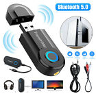 Bluetooth 5.0 Transmitter Wireless Stereo Audio 3.5mm RCA USB Adapter For TV PC