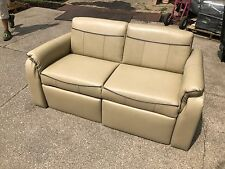 NEW RV CAMPER MOTORHOME CREAM COUCH SOFA FOOTSTOOL FLIP FOLD DOWN BED PULL OUT