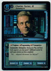 STAR TREK CCG 2E DANGEROUS MISSIONS, FOIL CARD 9R14 CHARLES TUCKER III