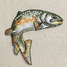 Fish - Golden Trout Natural/Fishing/Camping - Iron on Applique/Embroidered Patch