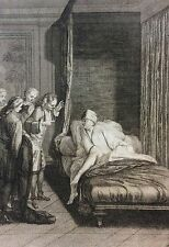 Estampe d'après Gillot gravée par Duflos pour le Lutrin 1713 Nicolas Boileau .