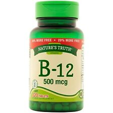 Natures Truth Vitamin B-12 Tablets 500mg 120 Count Each