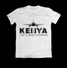 T Shirt Fly Nairobi Kenya +254, Available in White, Red, Black color All sizes