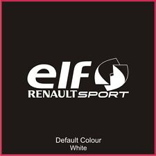 Elf Renaultsport Window Decal, Vinyl,Sticker, Graphics,Car, Racing, N2079