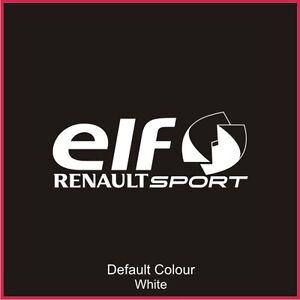 Elf Renaultsport Window Decal, Vinyl,Sticker, Graphics,Car, Racing, N2079
