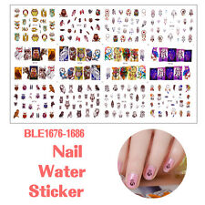 Hot Nail Art Tips Sticker Water Transfer Decals Flower Feather Stickers Manicure