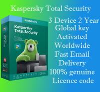 KASPERSKY TOTAL SECURITY 2020 / 3 Device / 2 Year / GLOBAL MULTI-DEVICE KEY