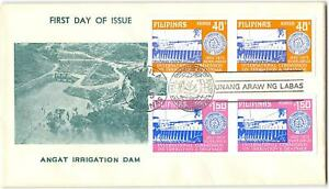Philippines #1060a-1061a complete set of imperf pairs on cacheted FDC, 1975