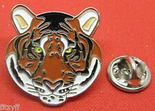 Tiger Head Felidae Lapel Hat Tie Pin Badge Brooch