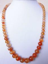 """Edelsteinkette Rot Achat Collier 52cm Halskette mit 8-9.5mm Perlen """"True Gems"""""""
