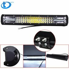 20'' Inch Quad-row LED Work Light Bar Combo Offroad Driving Lamp Car Trucks Boat